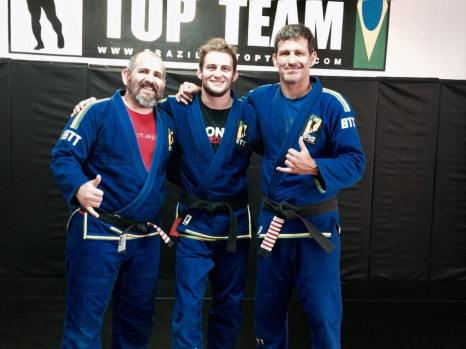 From left: Fabio Holanda (BTT Canada), Matt, and Murilo Bustamante (Head of BTT)