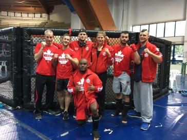 Matt along with some of Team Canada. TMAC had several members on the team for WKF